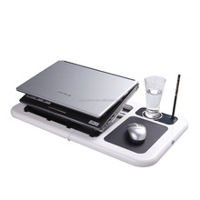 sharper image usb foldable cooling laptop table with 3 ports hub