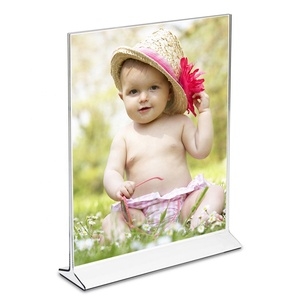 Clear Acrylic Plastic 5x7 Table Tent Menu Holder Card Display Ad Photo Frame