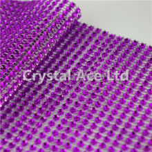 Diamond mesh ribbon,plastic crystal diamante lace ribbon, diamond banding wrap