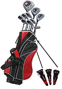 Precise AMG Men's Complete Golf Club Set, Right Hand, Black/Red