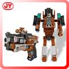 Die cast material soft bullet gun transformable robot toy