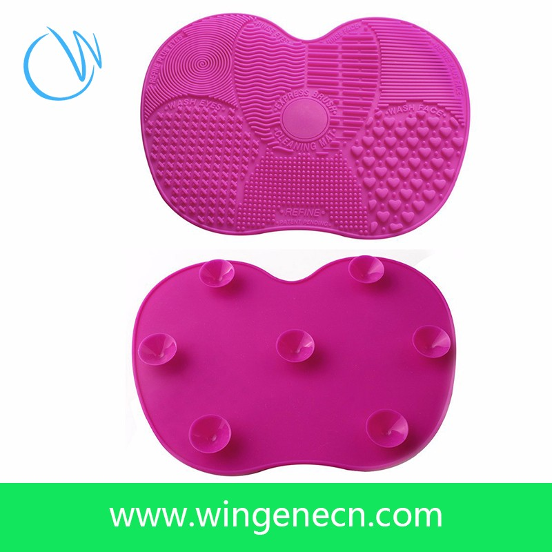 Cleaner Mat, Silicone Cleaning Tools Makeup Brush Cleaner, Silicone Cosmetic Brushes Pad