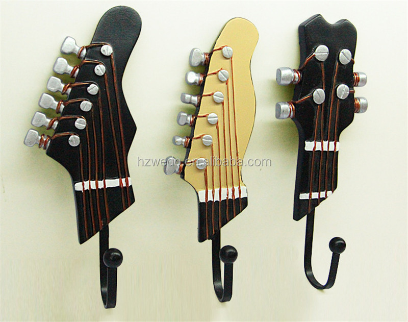 creative musical resin coat hooks wall hanging home decoration coat hooks coffee bar music festival party decoration