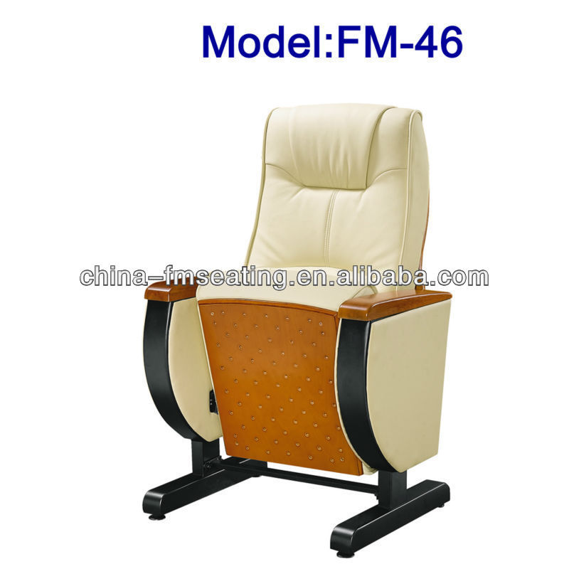 FM-46 movable folding leather auditorium seating with table