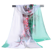 Hot Sell New Design Women Long Fashionable Soft Shawl Chiffon Scarves