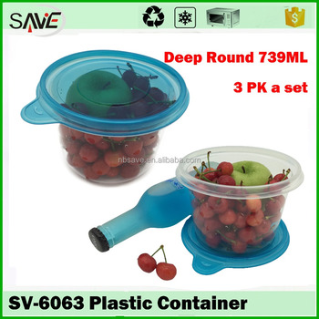 Acrylic Kitchen Household Items Kids Food Storage Box Sealed Fresh Fruit  Plastic Container With Clear Lid - Buy Fruit Plastic Container,Acrylic