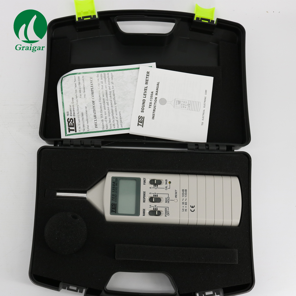 Tes-1350a Sound Level Meter(35-130db) 1pc Wholesale & Retailers - Buy Sound  Level Meter,Sound Meter,Tes-1350a Product on Alibaba com