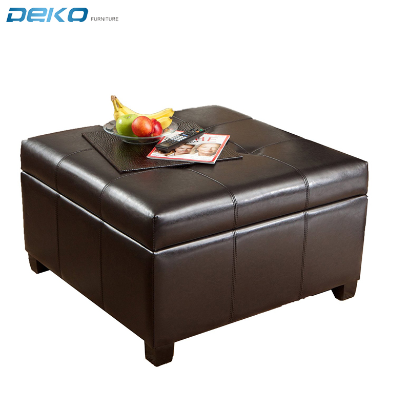 Best Selling  Storage Ottoman  Coffee Table Square Shaped Ottoman