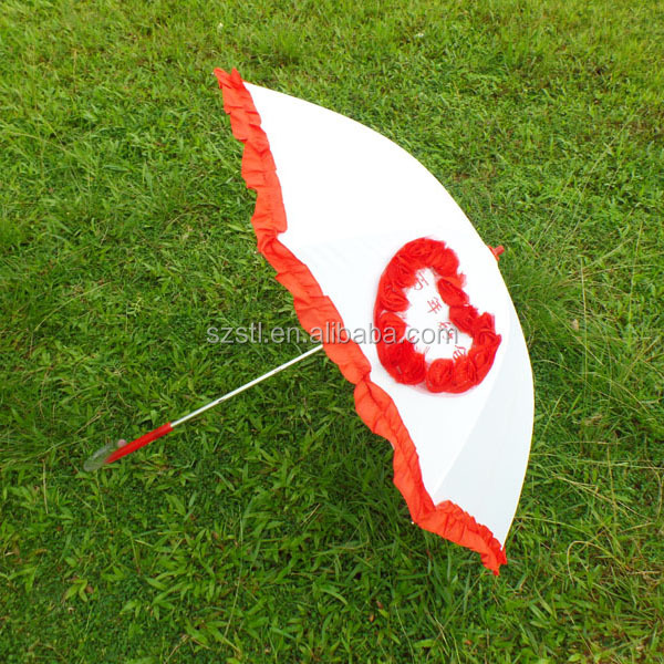 White Woman Umbrella /Wedding Umbrella Indian/Fashion Heart Shaped Umbrella