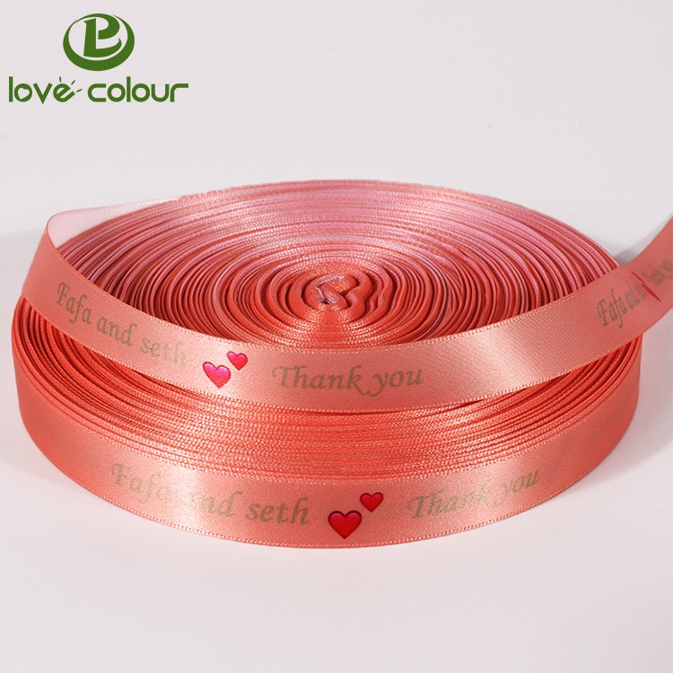 Guangzhou Factory Custom Multicolor Printed Satin Silk Ribbon With Logo