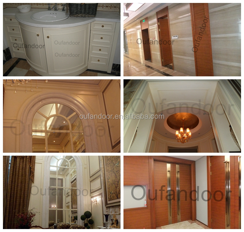 Residential Main Entry Door Modern Design Pivot Wood Doors