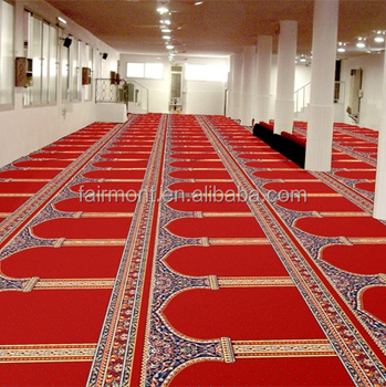 Wool Roll Carpet For Mosque Prayer Room G01 Luxury Wool