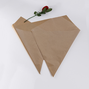 New product custom design fancy kraft paper flat flower sleeves