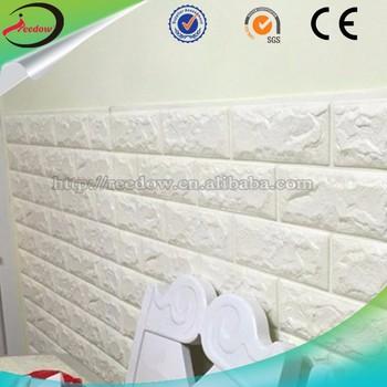 3d Relief Kids Room Wall Decor Foam Sticker 3d Pe Foam Brick Mural ...