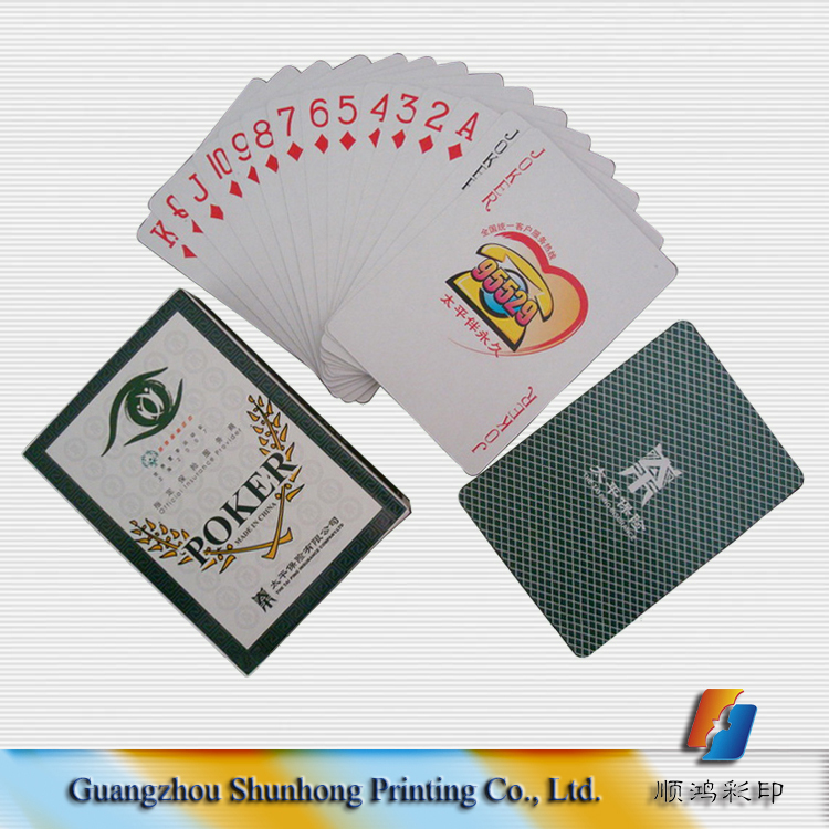 Hot sale custom paper playing card for sale with advertising