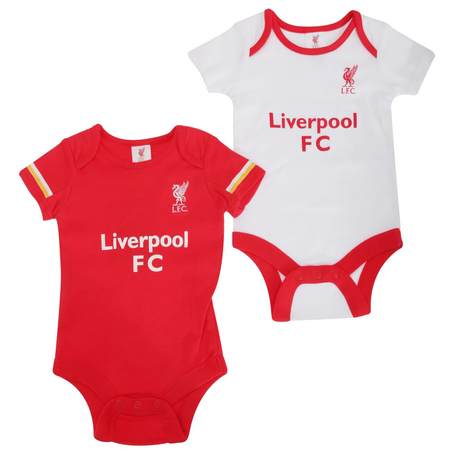 82f3aaa70 Get Quotations · Liverpool FC Authentic EPL Baby Onesies 2 Pack 15 16 design