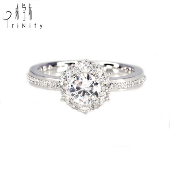 Best Choice 18k White Solid Gold 1 Carat Solitaire Diamond Engagement Ring Gram