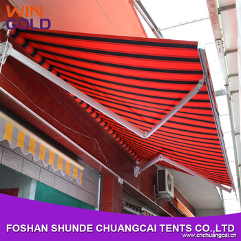 Folding Arm Balcony Awnings Windproof Used Aluminum For Sale Retractable