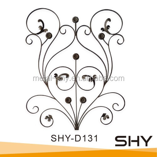 forged ornamental decorative wrought iron rosette