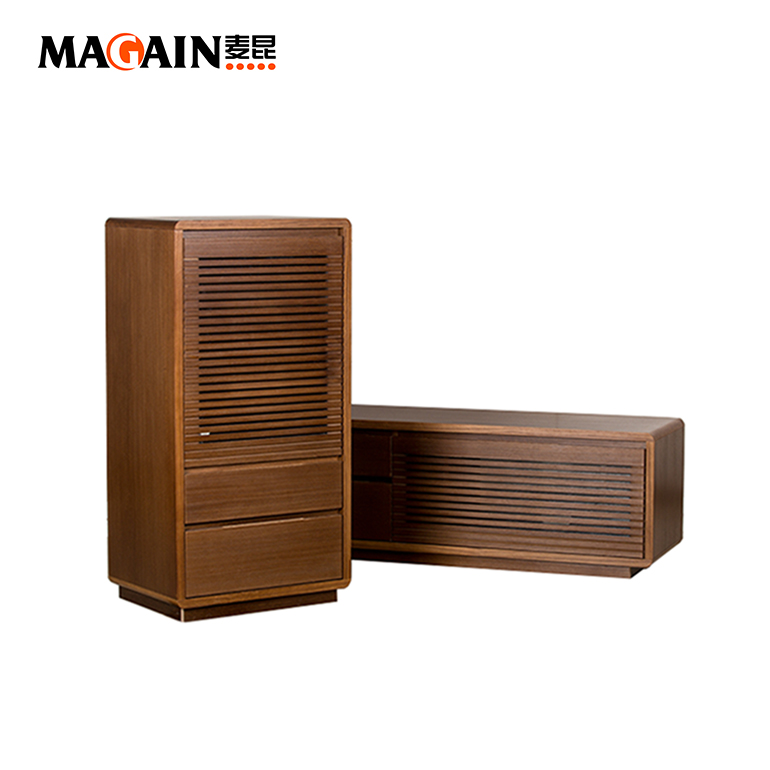 Simple Wood TV Cabinet Design In Living Room TV Showcase Furniture