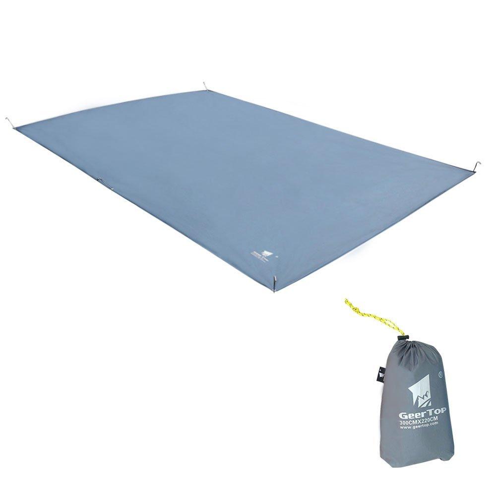 Geertop Oxford Fabric 4-5 Men Footprint Ground Sheet Tent Tarp Mat Canopy Waterproof, Grey, 9'10'' x 7'3''