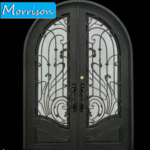Widely used superior quality interior frosted double leaf glass door