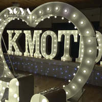 Factory Supplier Led Light Up Heart Wedding Arches Party Event Background Front