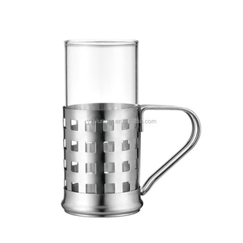 Factory Hot Selingl Irish Glass Coffee Cup With Metal Holder Buy Irish Glass Coffee Cupglass Tea Cups With Handleglass Cup Product On Alibabacom