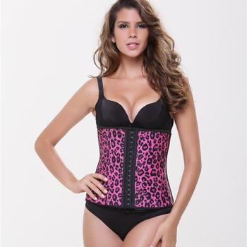 37ed451b16a94 Animal Print Waist Trainer Cincher Tummy Slimmer Breathable Shapewear  Girdle for Woman