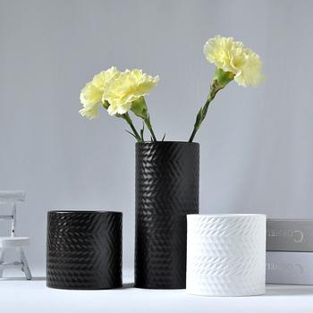 Elegant White Porcelain Mini Flower Vases With Textured Finish View