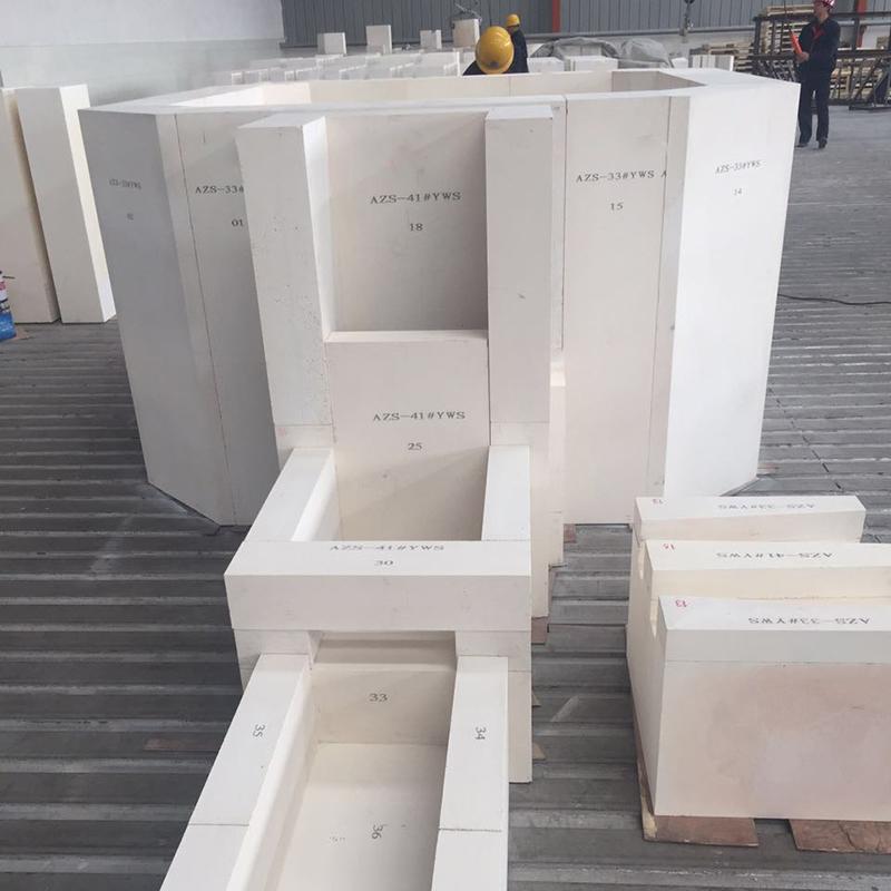High temperature resistance glass kiln used AZS 33,AZS36,AZS41 ER1711 brick