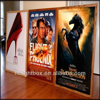 movie billboard framed movie poster led light box lighted movie poster frames - Movie Poster Frame