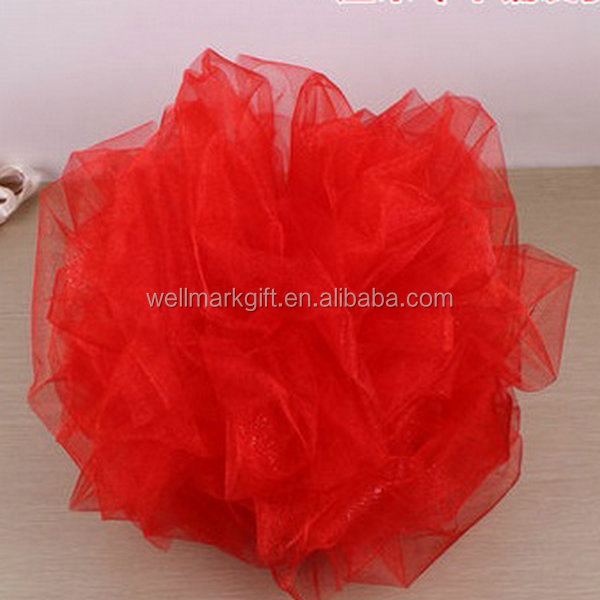 Chinese Wedding Car Decorative Giant Red Satin Fabric Ball-flower