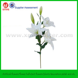 Large Natural Touch Lily Artificial Flower X 5 Heads