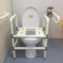 Bedside Commode for Seniors Handicap Elderly Portable 3 in 1 Medical Toilet Chair with Wide Seat