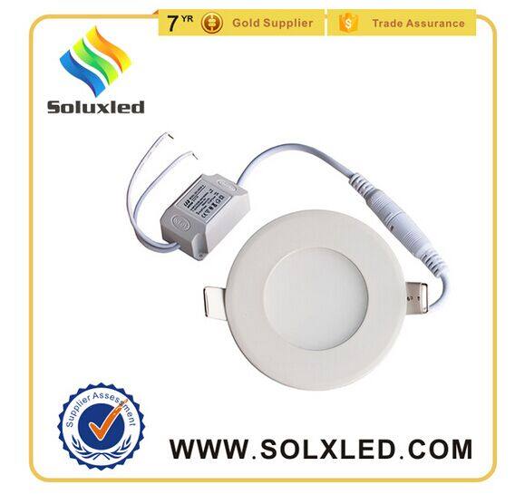 3w round led panel light ultra thin recessed mounted lighting