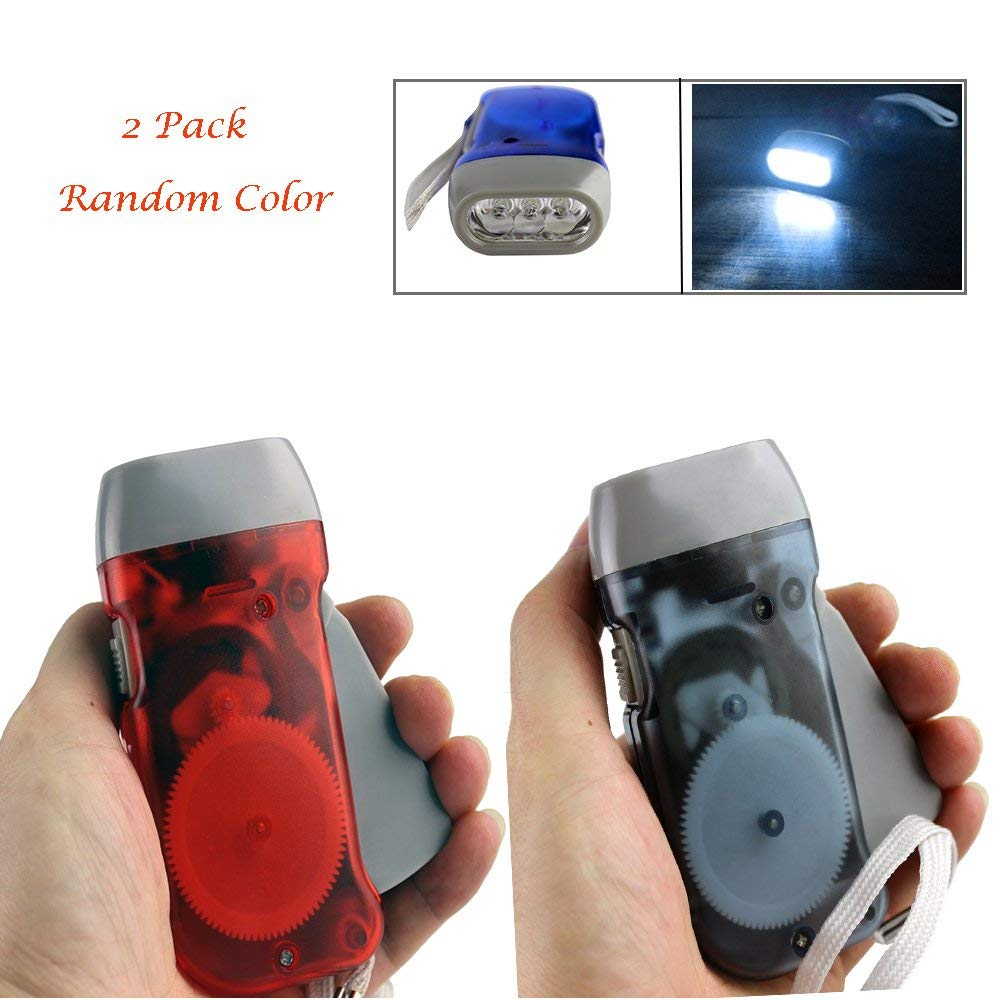 d46f30cfe33 Get Quotations · Hand Press Flashlight - No-Battery Required Manual Self  Powered Dynamo   Green Energy