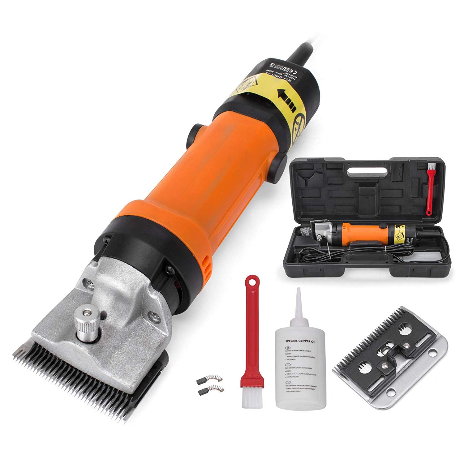 0c5ca8b728c Get Quotations · Happybuy Electric Horsehair Clipper 350W Horsehair Shear  Yellow Electric Shear Clipper with 5m Cable Animal Hair
