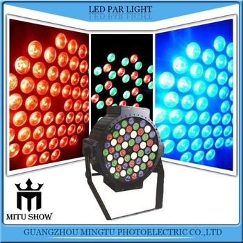 54*3watt Rgbw Color Changing Cool White Led Aluminum Shell Led Par Lights