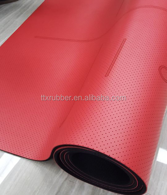 New product antiskid PU yoga mat eco rubber yoga mat anti slip leather yoga mat
