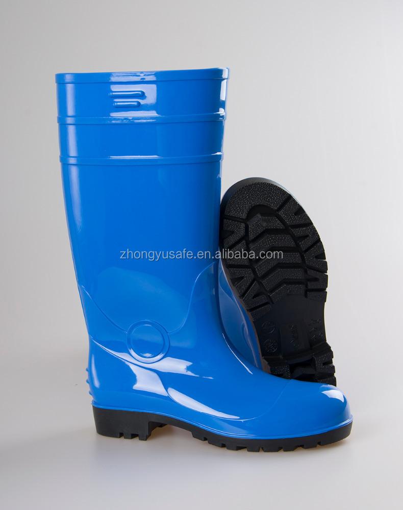 901182169 سلامة المطر التمهيد Pvc اللثة/أحذية برقبة طويلة مقاومة للماء الرجال/المطاط  الكالوشات الصانع