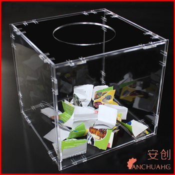 Clear Acrylic Assembled Lucky Draw Box Buy Acrylic