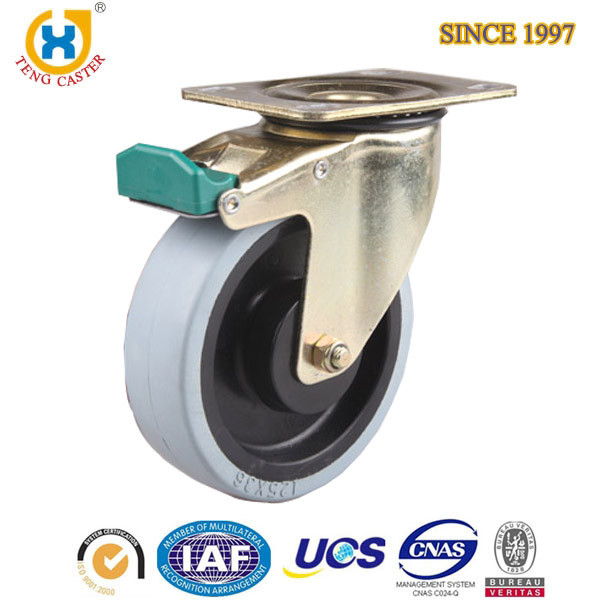 5 inch industry PA caster with total break