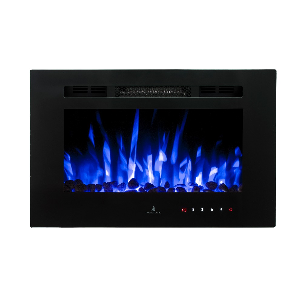 Glass pane for electric fireplace