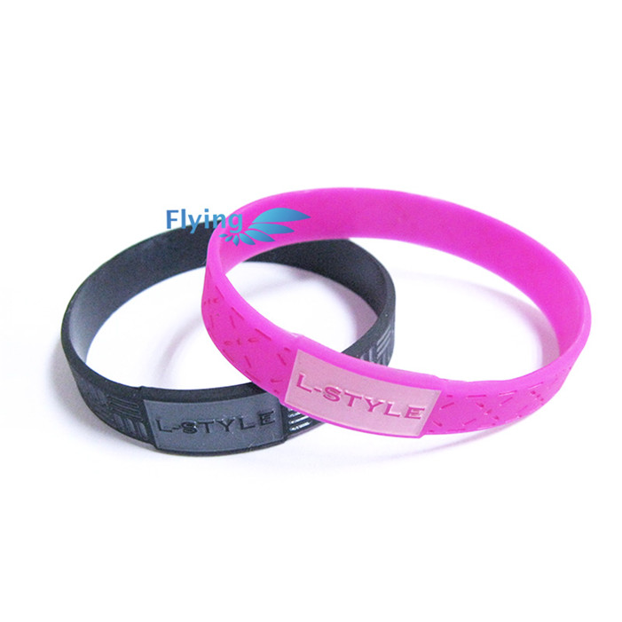 MECY LIFE 2016 wholesale promotions custom your own logo power energy silicone bracelet