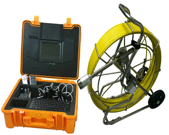 Plumber tool inspection camera sewer inspection camera with 9mm 60m push rod cable