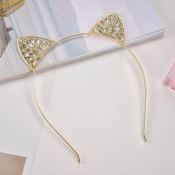 2018 New Jewelry  Beatiful Zircon Cat Ear Headband For Christmas