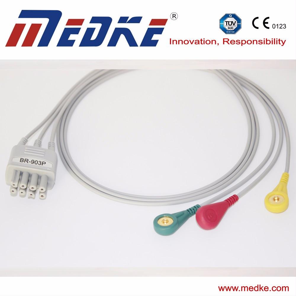 Ontdek de fabrikant 3 Draads Ecg-kabel van hoge kwaliteit voor 3 ...