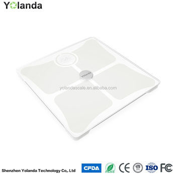 2017 New Bathroom Scale Bluetooth Body Fat Scale With White Rose Red