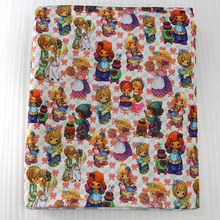 42863 50 147cm patchwork printed cotton for tissue kids bedding textile for sewing tilda doll diy